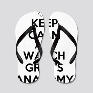 Keep Calm and Watch Greys Anatomy Flip Flops