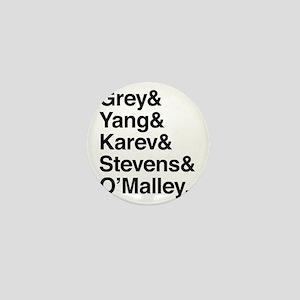 Grey, Yang, Karev, Stevens, Omalley Mini Button