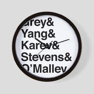 Grey, Yang, Karev, Stevens, Omalley Wall Clock
