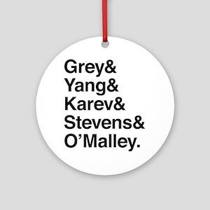 Grey, Yang, Karev, Stevens, Omalley Round Ornament