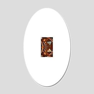atlaskindle sleeve 20x12 Oval Wall Decal