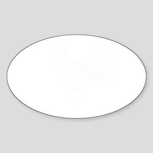Chicken funny Sticker (Oval)