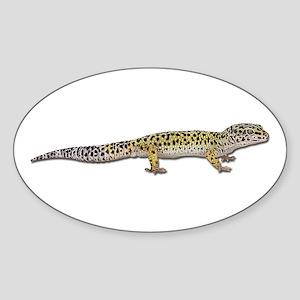 Leopard Gecko Sticker (Oval)