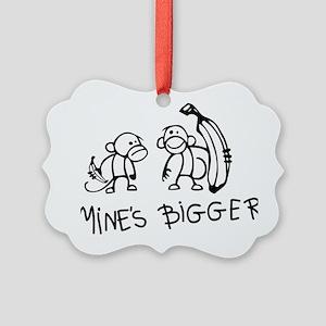 Mines bigger Picture Ornament