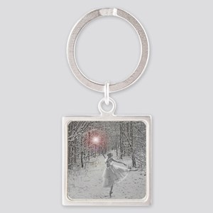 The Snow Queen Square Keychain