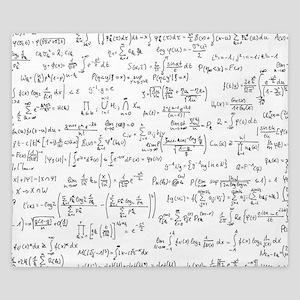 Mathematics equations on white King Duvet