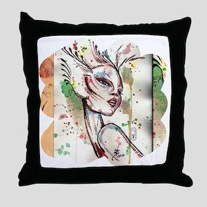 Alien Fairy Fantasy Art 2 Throw Pillow