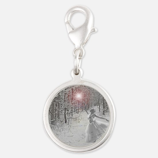 The Snow Queen Silver Round Charm
