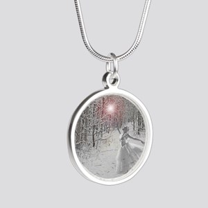 The Snow Queen Silver Round Necklace