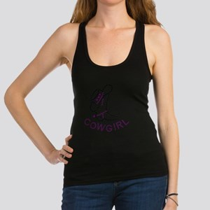 Cowgirl Boot and Hat Racerback Tank Top