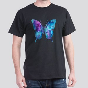 Electric Blue Butterfly Dark T-Shirt