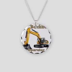 Back Hoe Necklace Circle Charm