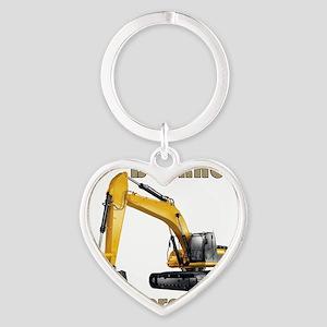 Back Hoe Heart Keychain