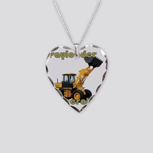 Payloader Operator Necklace Heart Charm