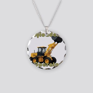 Payloader Operator Necklace Circle Charm