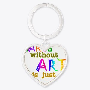 Earth Without Art Heart Keychain