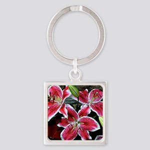 Lilly Explosion Square Keychain