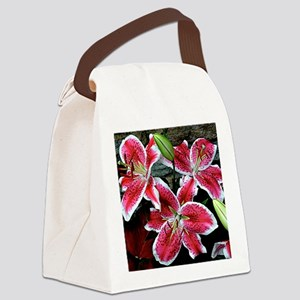 Lilly Explosion Canvas Lunch Bag