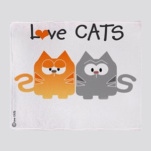 Love CATS 2 Cats Tote Bag Throw Blanket