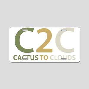 Cactus to Clouds Aluminum License Plate