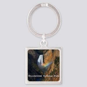 Yellowstone National Park Square Keychain