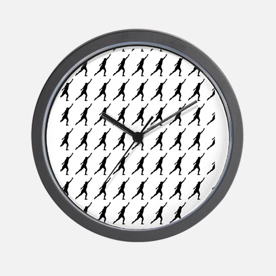 Shot Put Track  Field Silhouette or Ico Wall Clock