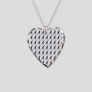 Shot Put Track  Field Silhoue Necklace Heart Charm