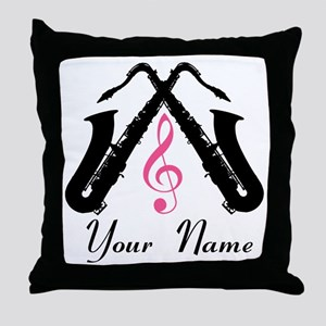 Personalized Saxophone Throw Pillow