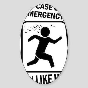 Run like hell Sticker (Oval)