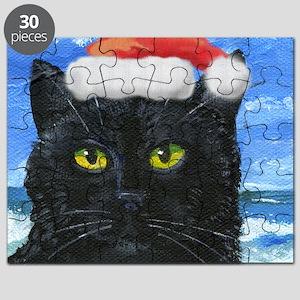 Santa Holiday Cat Puzzle
