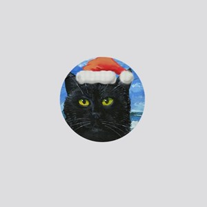 Santa Holiday Cat Mini Button