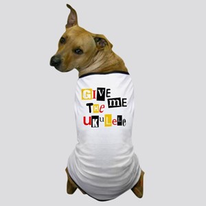 Ukulele Ransom Note Dog T-Shirt