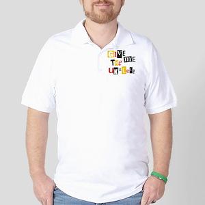 Ukulele Ransom Note Golf Shirt