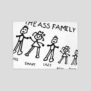 The ass family 5'x7'Area Rug