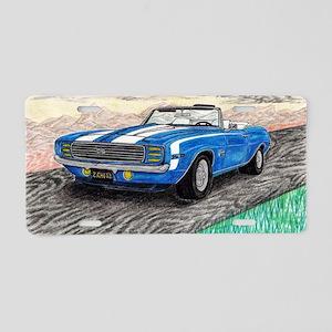 The Classic 1969' Camaro SS Aluminum License Plate