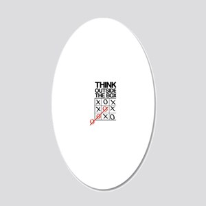 Think outside the box 20x12 Oval Wall Decal