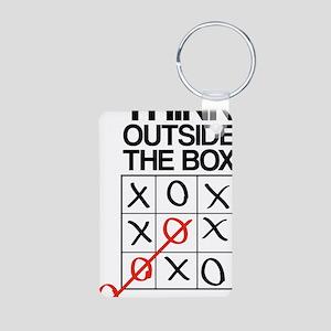 Think outside the box Aluminum Photo Keychain