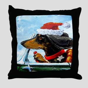 Holiday Dachshund Throw Pillow