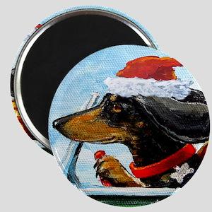 Holiday Dachshund Magnet