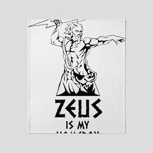 Zeus is my homeboy Throw Blanket