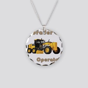 Road Grader Necklace Circle Charm