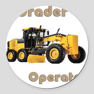 Road Grader Round Car Magnet
