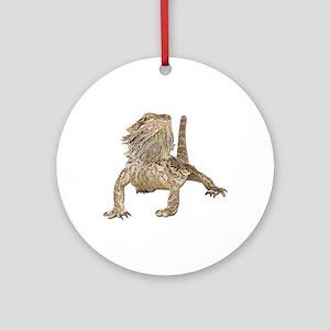 Bearded Dragon Photo Ornament (Round)