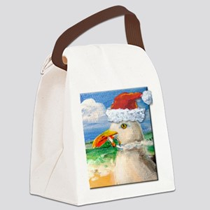 Sammy Seagull Holiday Canvas Lunch Bag