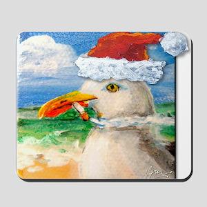 Sammy Seagull Holiday Mousepad