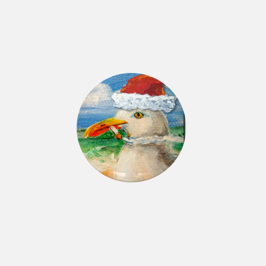 Sammy Seagull Holiday Mini Button
