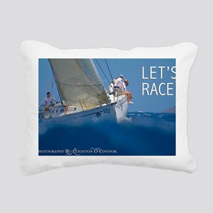 Sailing Calendar by Leig Rectangular Canvas Pillow