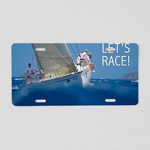 Sailing Calendar by Leighto Aluminum License Plate