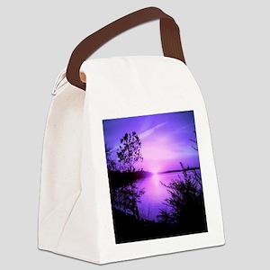 Purple Set Canvas Lunch Bag