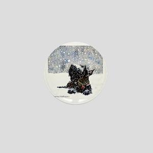 Scottish Terrier Christmas Mini Button